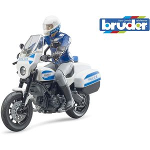 bworld Scrambler Ducati Polizeimotorrad und Polizist