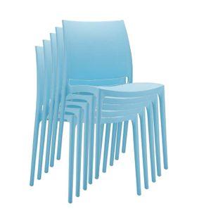 Stapelstuhl Kunststoff C44  hellblau