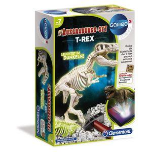 Clementoni Galileo - Ausgrabungs-Set - T-Rex fluoreszierend