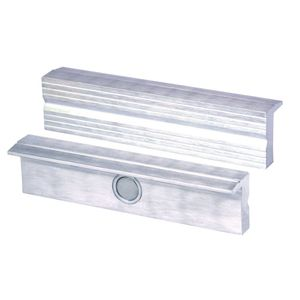 Magnet-Schraubstockbacken 100 mm Aluminium mit Rillen