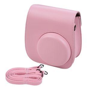 Tragbare Instant-Kameratasche Taschenhalter Kunstleder mit Schultergurt Kompatibel mit Fujifilm Fuji Instax Mini 11
