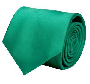 Schlips Krawatte Krawatten Binder 8cm grün uni Fabio Farini