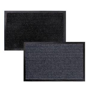 LEX Schmutzfangmatte ca. 80 x 120 cm Schwarz oder Grau, Farbe:Schwarz