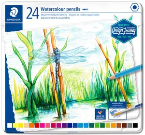 STAEDTLER Aquarellstift Design Journey 24er Metalletui