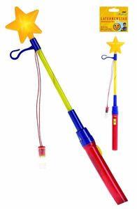 Laternenstab mit blinkenden Stern / Lampionstab / Länge: 36cm