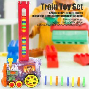 Weihnachten Toy Auto Domino Zug Set Rally Electric Model mit Licht und Ton