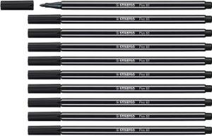 Premium-Filzstift - STABILO Pen 68 - 10er Pack - schwarz