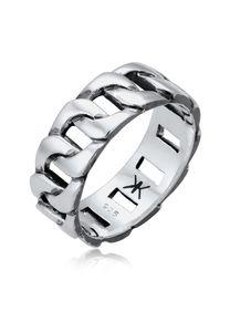 KUZZOI Ring Herren Chunky Chain Look Cool Trend 925 Silber 60 mm Silber