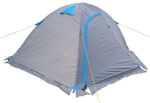 Kuppelzelt grau blau Iglu 1 - 2 Personen Festival Camping Biker Motorrad Zelt Outdoor 210x140x110cm (LxBxH)