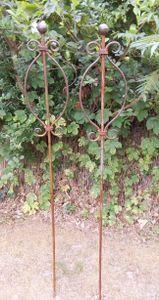 Set 2 Gartenstäbe Rankstab Rosenstab Eisen Rost traumschön 145 cm
