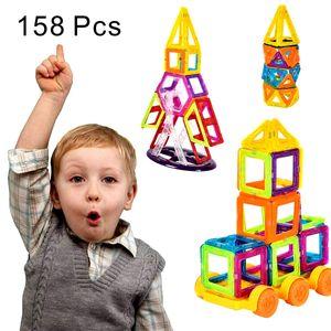 COSTWAY 158 Teile Magnetische Bausteine | Magnetische Baukloetze | Magnetspielzeug | Magnetic Building | Lernspielzeug