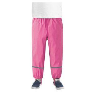 Dünne wasserdichte winddichte und atmungsaktive Regenhose für Kinder im Freien Größe:110/116,Farbe:Pink