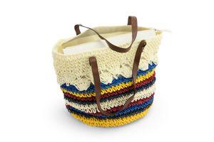 Dreiklang Strandtasche Tijuana bunte Streifen Offwhite