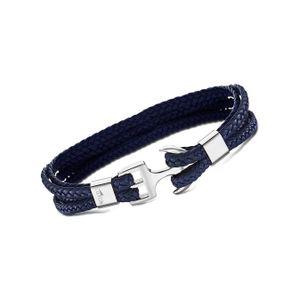LOTUS Style Armband Herren Anker LS2006-2/2 geflochten Leder blau D2JLS2006-2-2