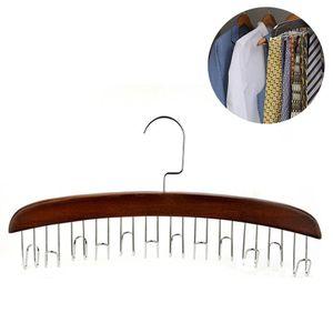 Krawattenhalter, Bügel aus Metall mit 12 Haken für Gürtel und Krawatten