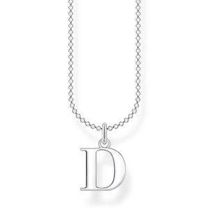 Thomas Sabo KE2013-001-21 Halskette mit Anhänger Buchstabe D Sterling-Silber