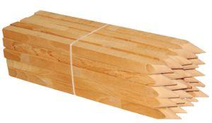 Holzpflöcke Hartholzpfähle Pflanzstäbe Angespitzt und Quadratisch   Holzpfähle für Markierung, Beschilderung oder Abgrenzung - 30cm - Kanten: 25mmx25mm (x 25st.)