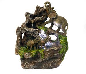 Zimmerbrunnen Elefant mit Beleuchtung Springbrunnen Zierbrunnen