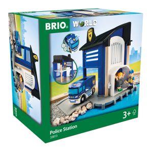 BRIO World - 33813 Polizeistation mit Einsatzfahrzeug