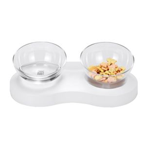 MECO 2tlg. Katzennapf Fressnapf Katzenschale Futternapf Näpfe 1L 20° mit Ständer Katze Essen