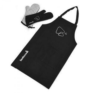 Grillschürze und Grillhandschuhe barbecook 3tlg. Set schwarz