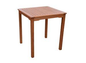 Gartentisch Eukalyptus Tisch Beistelltisch Balkontisch geölt massiv 70 x 70