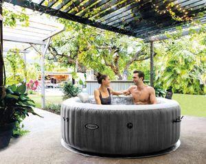 Intex Pool PureSPA Bubble 'Greywood Deluxe' Whirlpool 165cm Durchmesser x 71cm hoch