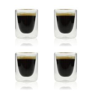 Orange85 Doppelwandige Espressogläser 10cl 4er-Set