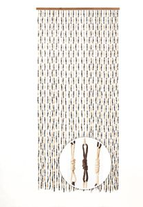 Türvorhang KNOTS Papier braun 36 Stränge 90x200 cm