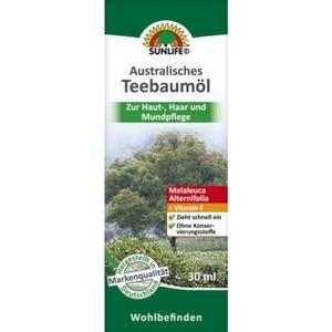 SUNLIFE Australisches Teebaumöl 30ml - zur Haut-, Haar- und Mundpflege