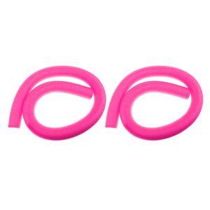 2Pcs Flexible Solid Core Schwimmbad Schaumnudeln, Float Woggle Logs Nudeln   Ideal für Strand , Schwimmhilfen , Aqua Aerobic  Oder Freizeitzwecke - Rosa Farbe Rosa