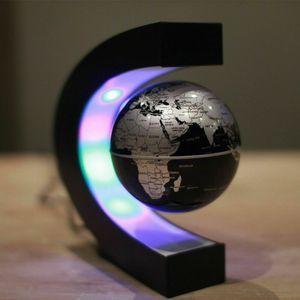 3 Zoll Magnetschwebebahn Floating Globe Lamp Weltkarte LED-Licht Schreibtisch Dekoration