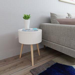 Happy Home Nachttisch mit Stauraum HWB03-WEI