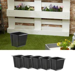 Pflanzkasten 6er Set aus Kunststoff für Europalette Pflanzkübel