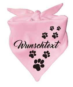 Hunde Dreiecks Halstuch (Fb: rosa) mit Ihrem Wunschtext