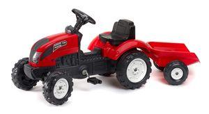 Tret-Traktor mit Hänger rot 2-5 J.