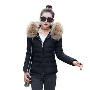 Mode Solid Women Casual Dicker Winter Slim Coat Mantel Größe:L,Farbe:Schwarz