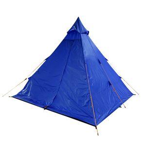 Regatta 4 Personen Mann Zelt Tipi blau aus schwer entflammbarem Gewebe Tent