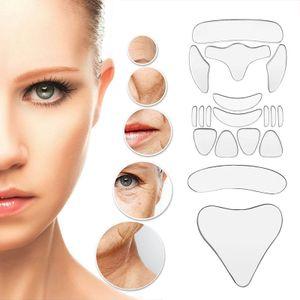18PCS Reusable Silikon Anti-falten Gesicht Stirn Aufkleber Wange Kinn Aufkleber Gesichts Eye Patches Falten Entfernung Gesicht Heben