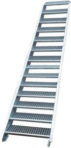 Stahltreppe verzinkt 15 Stufen Geschosshöhe 250-320cm / Stufenmaße 100 cm x 24 cm