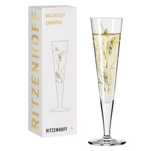 Ritzenhoff Champus Goldnacht Champagnerglas 07 Floral Blumen Marvin Benzoni 2020