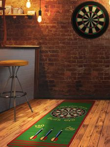 Dart-Teppich mit Offiziellem Spielabstand - Grün, 79x237 cm, Rutschfeste Turnier-Matte