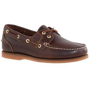 Timberland Classic Amherst 2 Eye Boat Sneaker Bootsschuhe Mokassin Verschiedene Farben, Schuhgröße:Eur 37.5; Farbe:72333  Dunkelbraun