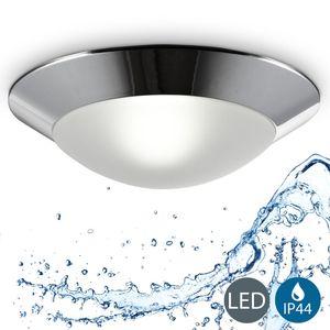 LED Baddeckenleuchte Deckenleuchte Badezimmer-Lampe rund max. 40W 230V IP44 Ø310 mm Chrom/Weiß B.K.Licht