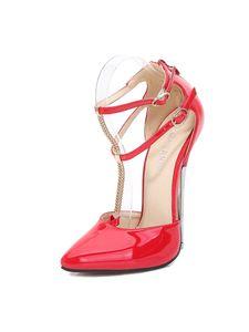 Abtel Frauen y Supper High Heels Sandalen Atmungsaktiv,Farbe:Rot,Größe:35