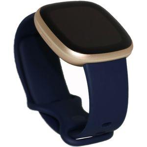 Fitbit Versa 3 Smartwatch midnight/soft gold aluminum