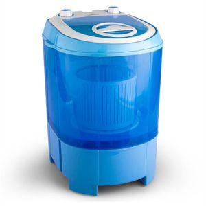 oneConcept SG003 - Camping-Waschmaschine , Mini-Waschmaschine , Wäscheschleuder , Toploader , 2,8 kg Kapazität , 180 Watt Leistung , für Singles und Studentenhaushalte , geräuscharm , sparsam , blau