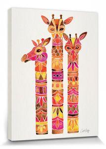 Giraffen Poster Leinwandbild Auf Keilrahmen - Giraffes, Cat Coquillette (40 x 30 cm)