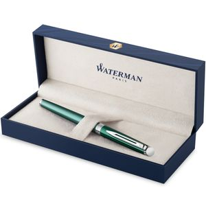 Waterman Hémisphère Füller | Hemisphere French Riviera Collection | Château Vert | Füllfederhalter Mittlere Spitze mit blauer Tinte | Geschenkbox