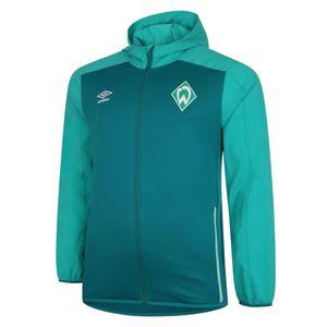 Umbro SV Werder Bremen Kapuzenjacke Herren Erwachsene dunkelgrün / grün L